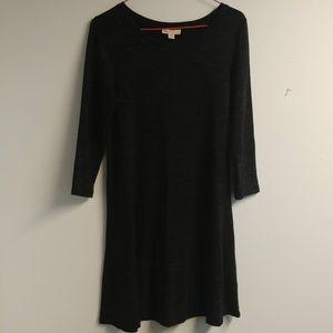 Lila Rose A Line Dark Gray Long Sleeve Dress XS